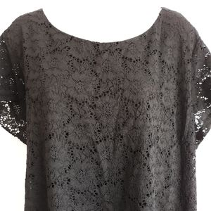 Ellen Tracy black lace top